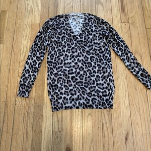 Michael Kors black grey leopard sweater S